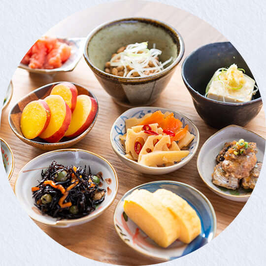 A rich variety of Japanese side dishes