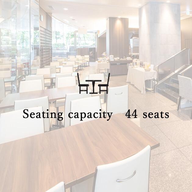 Seating capacity 44 seats